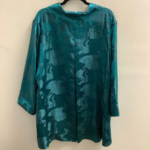 Load image into Gallery viewer, Rising Phoenix Blue Blouse Size 1X