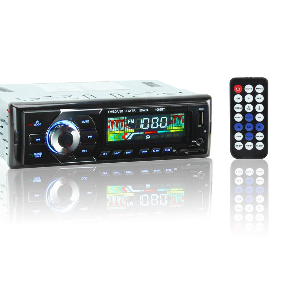 1066BT 12V Car Stereo FM Radio MP3 Audio Player Support BT Phone with USB/SD MMC Port Car Electronics In-Dash 1 DIN Wireless Remote Control