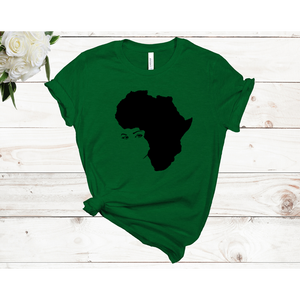Afro Lady Unisex Short Sleeve T-shirt (4 Colors)