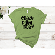 Load image into Gallery viewer, Crazy Plant Lady Leaf Unisex Short Sleeve T-Shirt (Available in 3 colors)