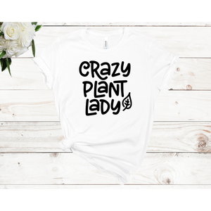 Crazy Plant Lady Leaf Unisex Short Sleeve T-Shirt (Available in 3 colors)