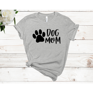 Dog Mom Unisex Short Sleeve T-shirt (4 Colors)