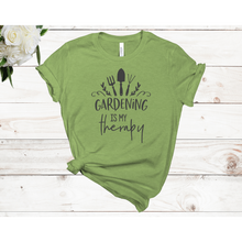 Load image into Gallery viewer, Gardening is My Therapy Unisex Short Sleeve T-shirt (Available in 2 Colors)