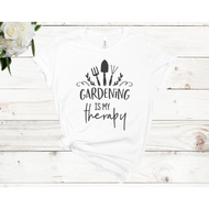 Gardening is My Therapy Unisex Short Sleeve T-shirt (2 Colors)