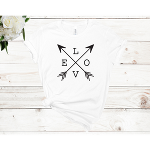 Love Arrows Unisex Short Sleeve T-Shirt (3 Colors)