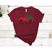 Load image into Gallery viewer, Merry Christmas Truck Unisex Short Sleeve T-shirt (4 colors)