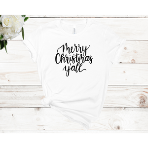 Merry Christmas Unisex Short Sleeve T-shirt (4 colors)