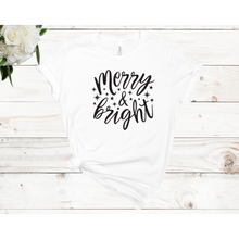 Load image into Gallery viewer, Merry & Bright Unisex Short Sleeve T-shirt (4 colors)