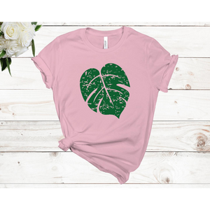 Distressed Monstera Leaf Unisex Short Sleeve T-Shirt (Available in 3 colors)