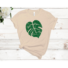 Load image into Gallery viewer, Distressed Monstera Leaf Unisex Short Sleeve T-Shirt (Available in 3 colors)