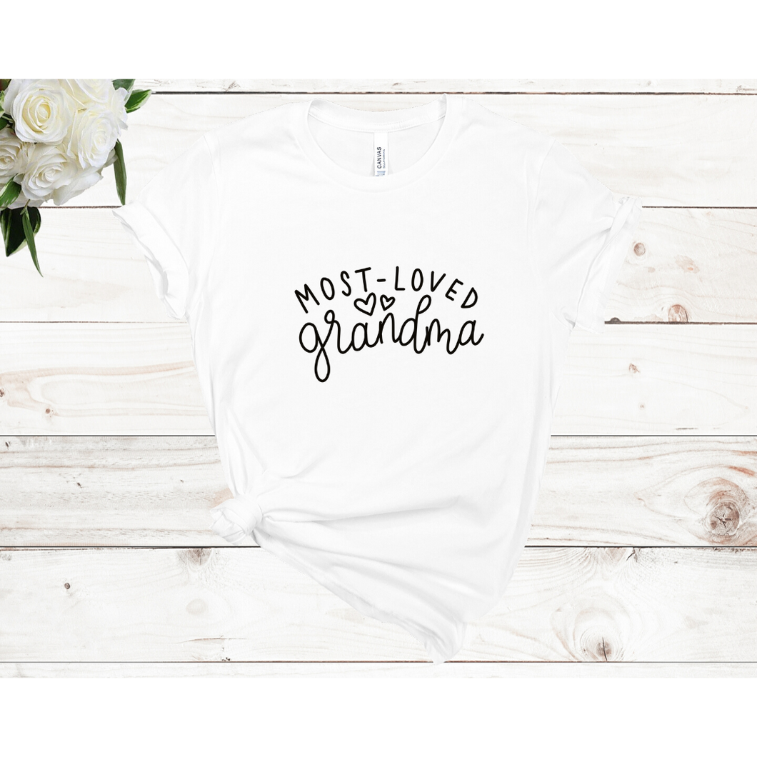Most Loved Grandma Unisex Short Sleeved T-shirt