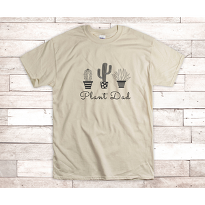Plant Dad Adult Unisex Ultra Cotton® 6 oz. T-Shirt (3 Colors)