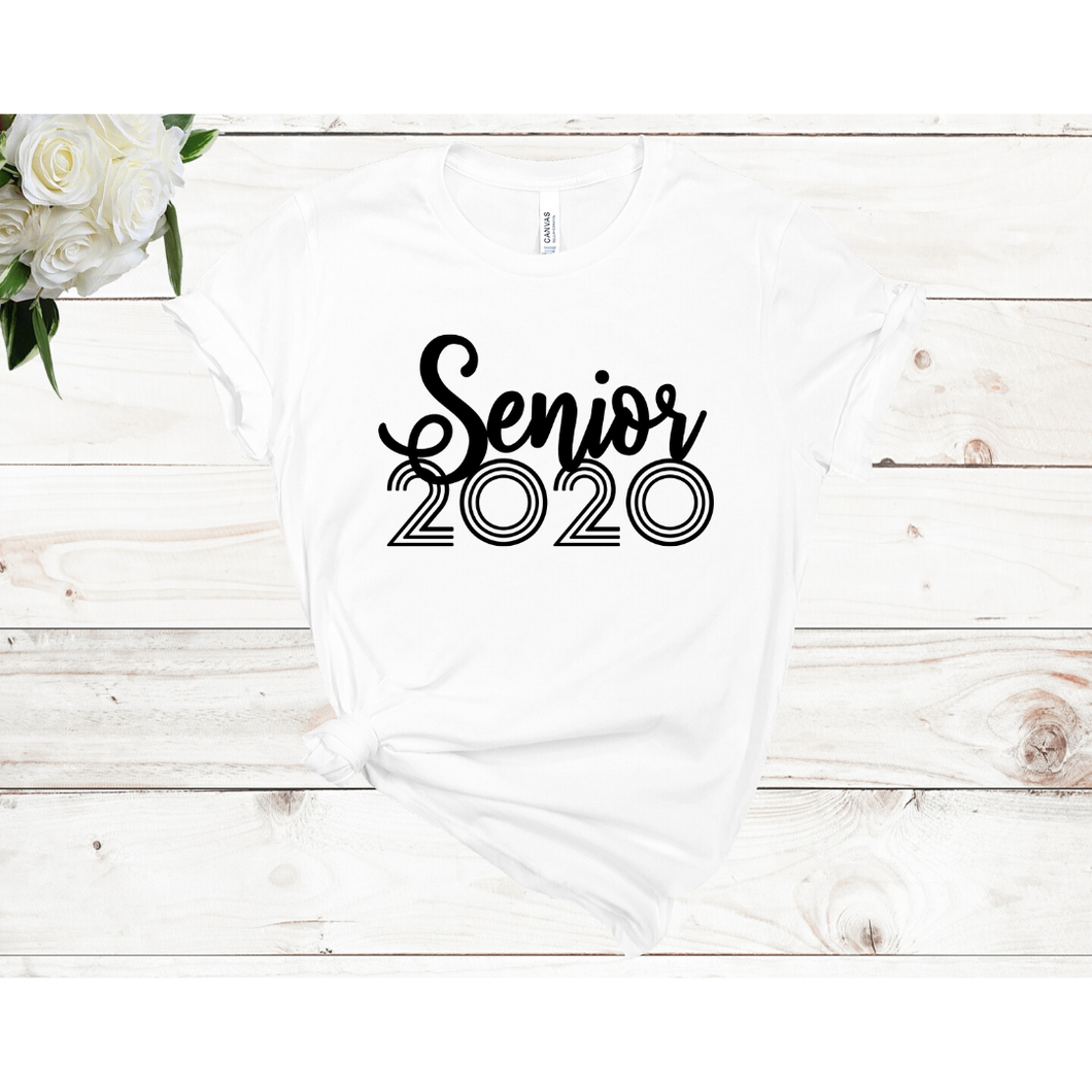 Senior 2020 Unisex Short Sleeve T-shirt