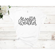 Sweater Weather Unisex Short Sleeve T-shirt (4 colors)