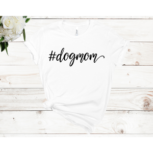 #dogmom Unisex Short Sleeve T-shirt (4 colors)