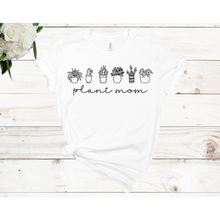 Load image into Gallery viewer, Plant Mom- 6 Plants Unisex Shirt Sleeve T-shirt (Available in 3 Colors)