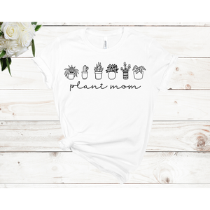Plant Mom- 6 Plants Unisex Shirt Sleeve T-shirt (Available in 3 Colors)