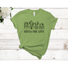 Load image into Gallery viewer, Succa for Love Short Sleeve Unisex T-shirt (Available in 4 colors)