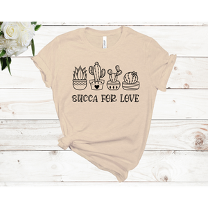 Succa for Love Short Sleeve Unisex T-shirt (Available in 4 colors)