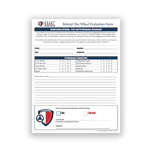 LLLC Driver Certification Behind-The-Wheel-Evaluation Form