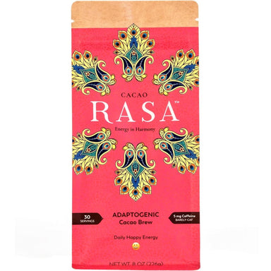 Cacao Adaptogenic Brew Package, Bright Pink with Yellow Flowers