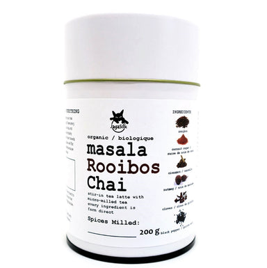 Masala Rooibos Chai Tea Latte, Micro-milled and in tea tin