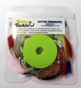 Flasher Hooks Favorites Pack. 8 Snapper hooks.