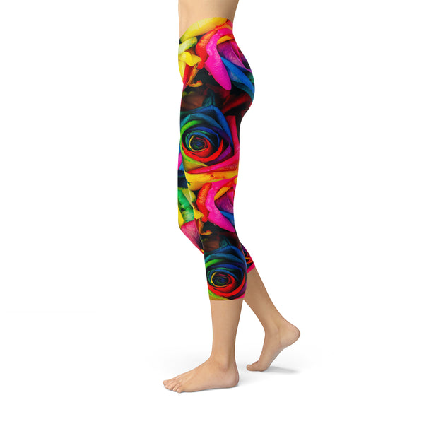 Gay Pride Roses leggings