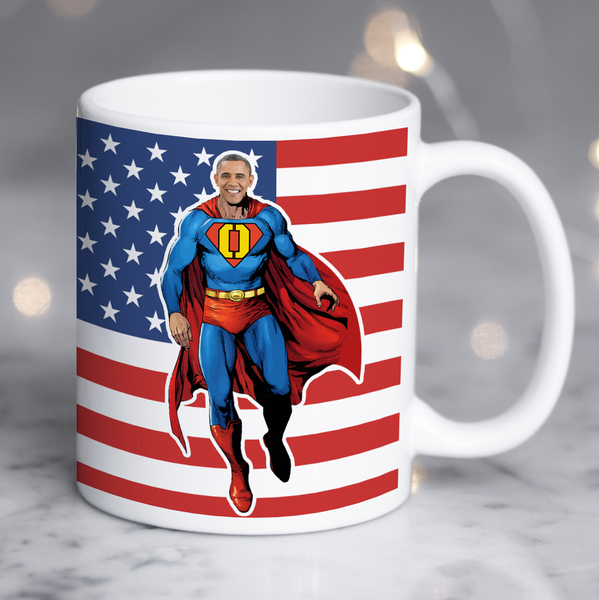 barack obama superman mug