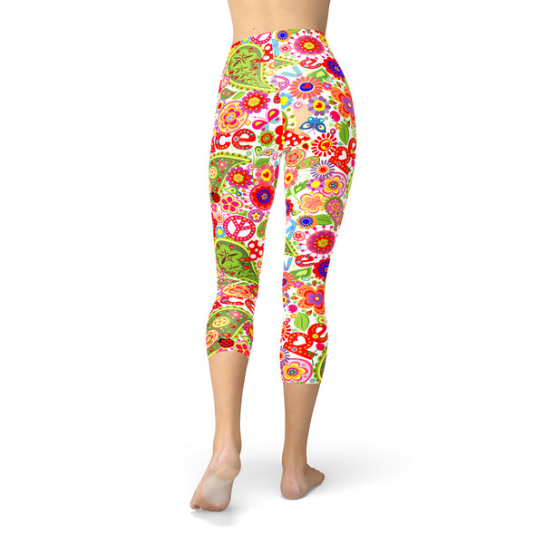 Peace and Love Capri Leggings