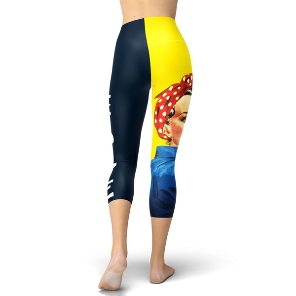 Rosie The Riveter Capri Leggings