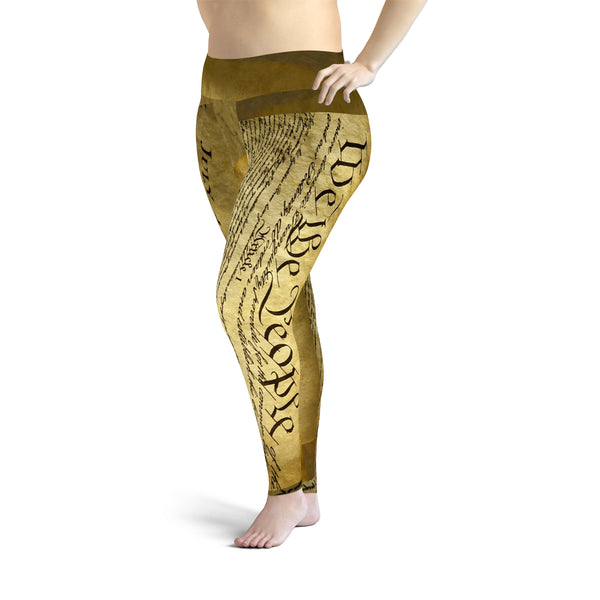 U.S. Constitution Plus Size Leggings
