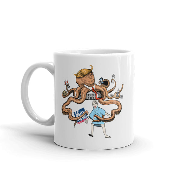 Octopus Trump, His Evil Tentacles Reaching All Mug
