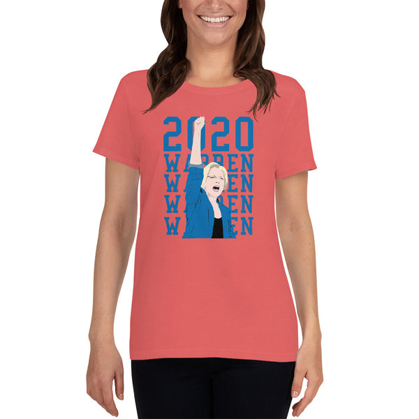 Elizabeth Warren 2020 Ladies Cut T-Shirt