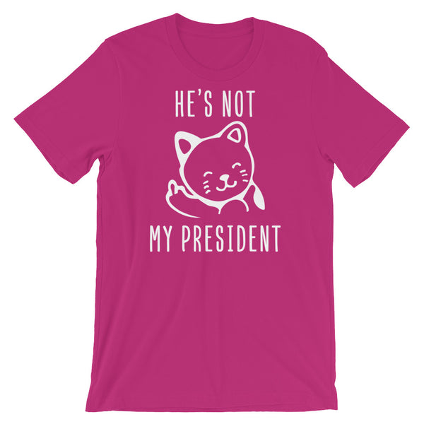 He's Not My President Kitty T-Shirt, , LiberalDefinition
