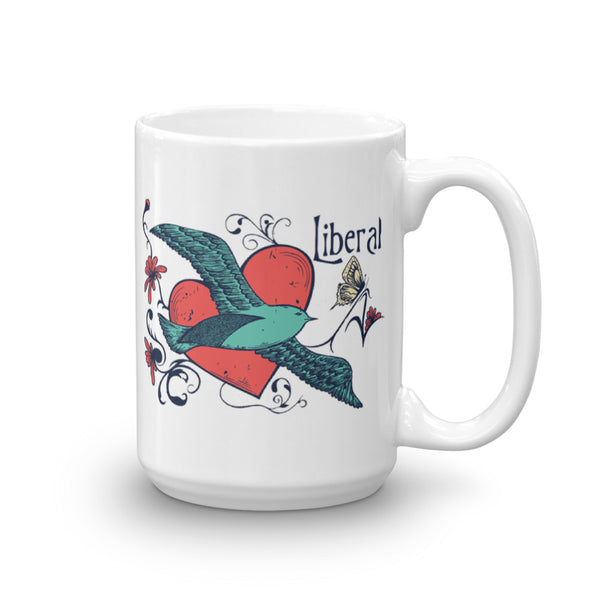 Peace, Love, And Liberals Mug