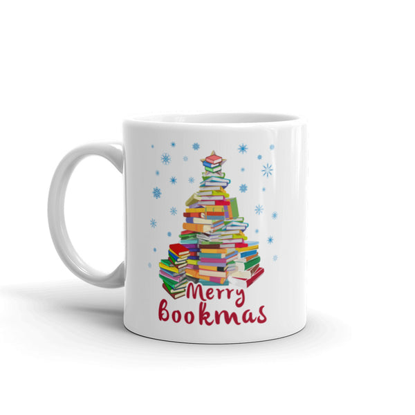 Merry Bookmas Book Club Book Lovers Christmas Mug