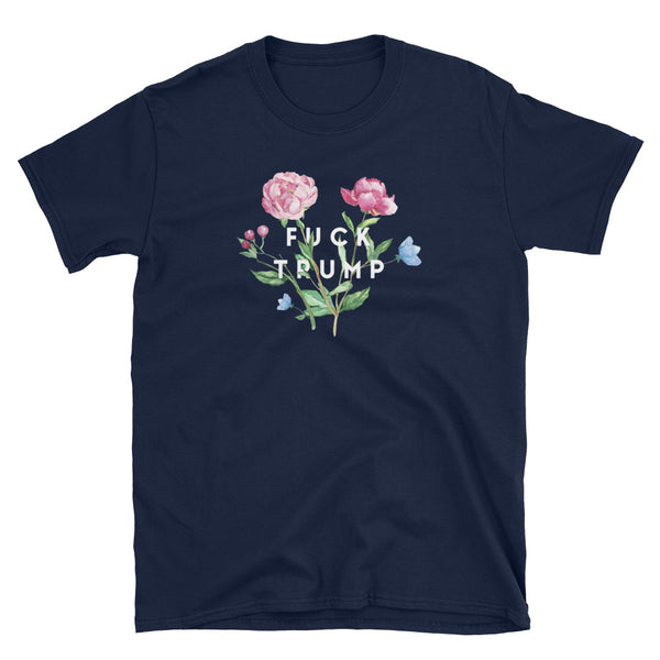F Trump Floral T-Shirt (Black and Navy)
