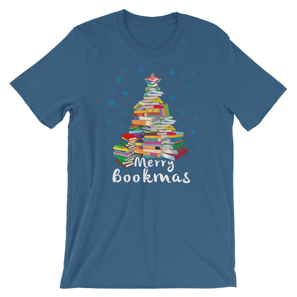 Merry Bookmas Christmas Book Club Book Lovers T-Shirt