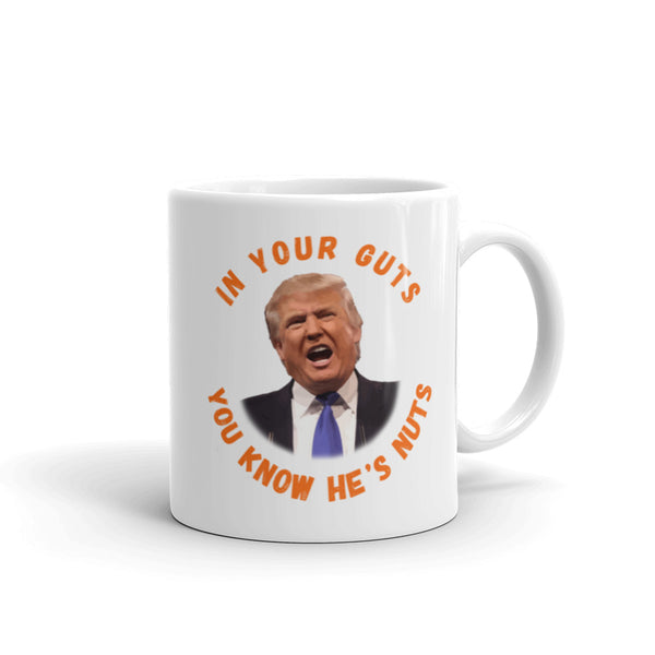In Your Guts, You KNOW He's Nuts Anti-Trump Mug