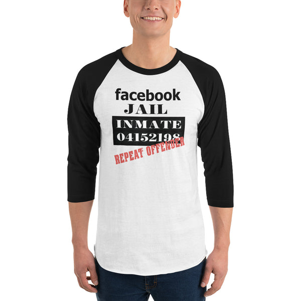 Facebook Jail Repeat Offender 3/4 Sleeve Raglan Jersey
