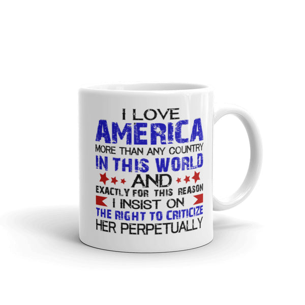 I Love America More Than Any Country In This World Mug