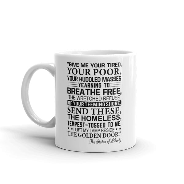 Statue Of Liberty Inscription Mug