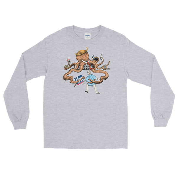 Octopus Trump, His Evil Tentacles Reaching All | Long-Sleeved T-Shirt