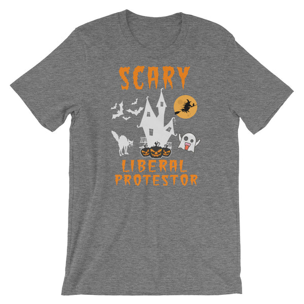 Scary Liberal Protester | Halloween T-Shirt
