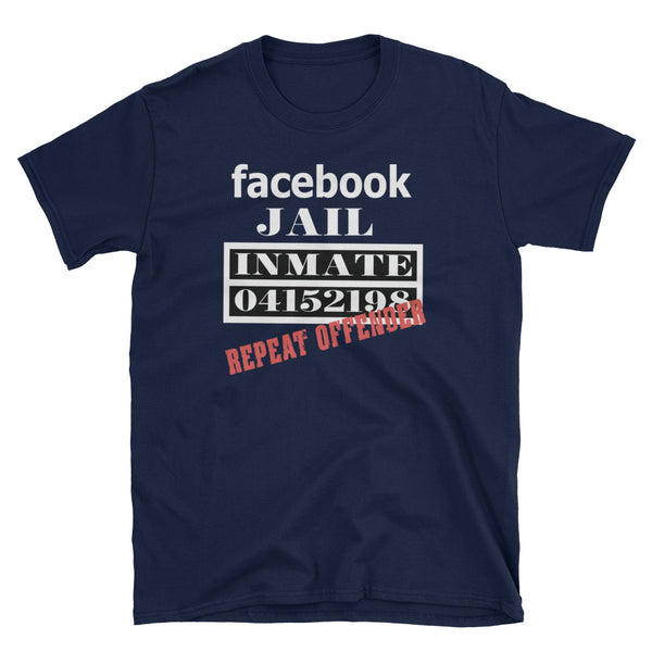 Facebook Jail Repeat Offender T-Shirt (Black and Navy)