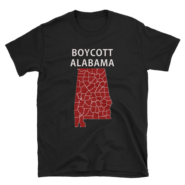 Boycott Alabama Women's Reproductive Rights T-Shirt (Black and Navy)