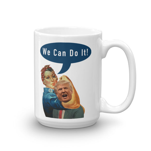 We Can Do It Rosie the Riveter Choking Trump Mug