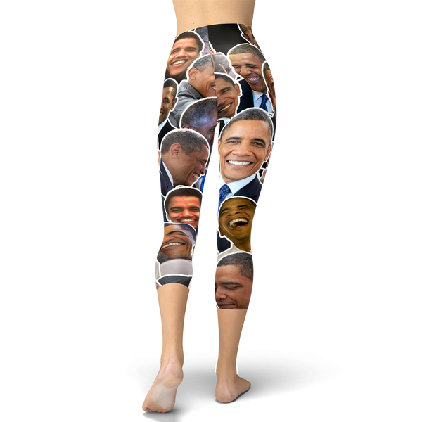 Barack Obama Smiles and Laughs Capri Leggings