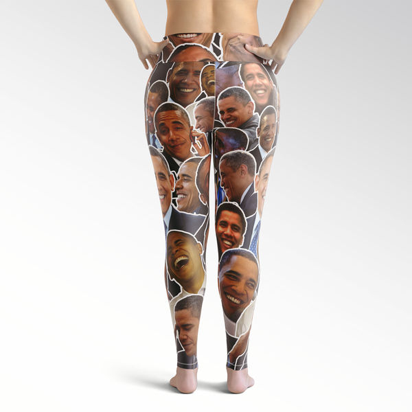 Barack Obama Smiles And Laughs Plus Size Leggings